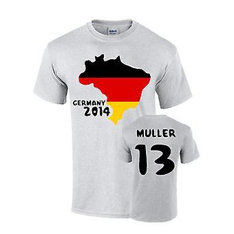 Tyskland 2014 land flagg T-shirt (muller 13)