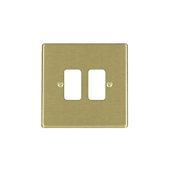 Hamilton Litestat Hartland Satin Brass 2g Apert Gridfix Plate+Grid