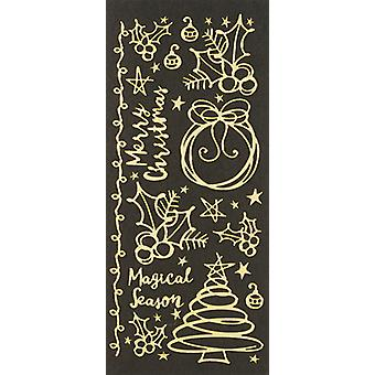 Dazzles Stickers-Christmas Scribble Shapes-Pearl & Gold DAZ-2596