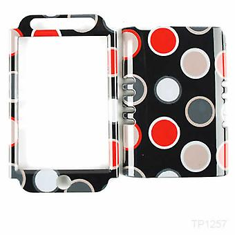 Unlimited Cellular Rocker Snap-On Case for Apple iPod Touch 4 - New Polka Dots o