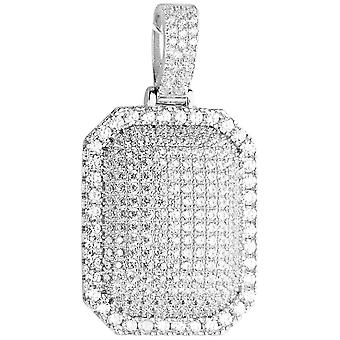 Premium Bling - 925 sterling silver dog tag pendant
