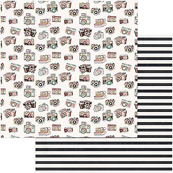 Vintage Girl Double-Sided Cardstock 12