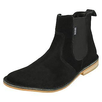 Mens Lambretta Ankle Boots Regent - Black Suede Leather - UK Size 10 - EU Size 44 - US Size 11