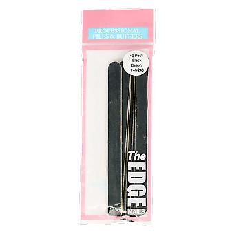 The Edge Nails Black Beauty 240/240 File 10 Pack