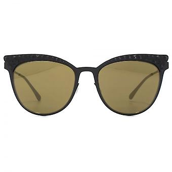 Italia Independent 0257 Thin Metal Base 2 Sunglasses In Black