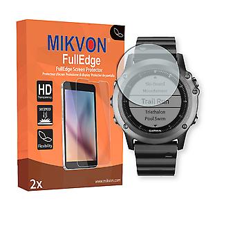 Garmin Fenix 3 screen protector - Mikvon FullEdge (screen protector with full protection and custom fit for the curved display)