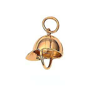 9ct Gold 12x11mm Jockeys cap Pendant or Charm