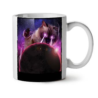 Space Cat Laser Eye NEW White Tea Coffee Ceramic Mug 11 oz | Wellcoda