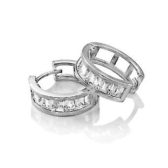 Sterling 925 Silver HOOP earrings - BLING III KING 16 mm