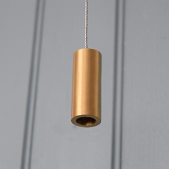 Brushed Brass Gold Cylindrical Bathroom Light Pull