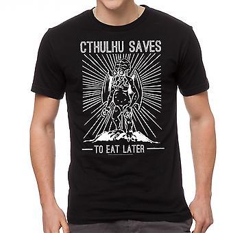 Warpo Cthulhu sparer mænds sort T-shirt