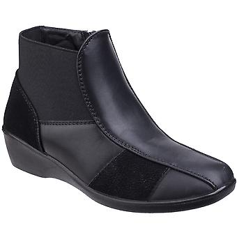 Fleet & Foster Womens/Ladies Festa Pull On Zipped Casual Ankle Boots