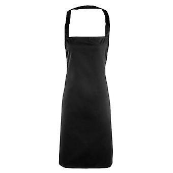 Premier kleuren essentiële Unisex volwassenen werkkleding Bib schort zwart One Size