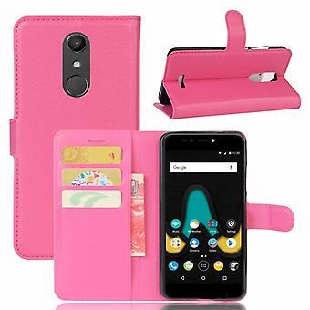 Tasche Wallet Premium Pink für Wiko Upulse Schutz Hülle Case Cover Etui Neu