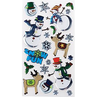 Sticko Stickers-Roly Poly Snowmen