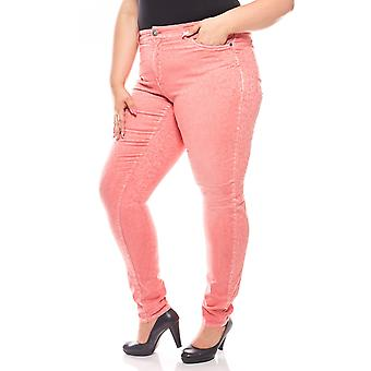 sheego ladies stretch long size plus size pink