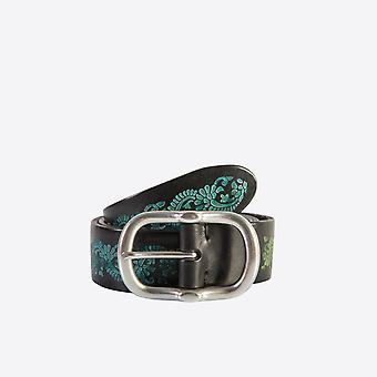 Fabio Giovanni Tavian Belt - Bold & Beautiful Mens Italian Tri-Colour Floral Belt
