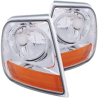 Anzo USA 521026 Ford Expedition Euro Lighting Style Corner Light Assembly - (Sold in Pairs)