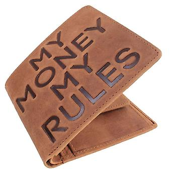 Mustard My Money My Rules Bifold and Coin Wallet - Brown