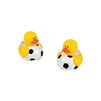 SALE - 24 Football Micro Rubber Ducks - Party Bag Fillers