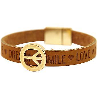 Gemshine - damer - armband - harmoni - fred - önskemål - brun - magnetlås
