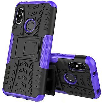 Voor Xiaomi MI A2 Lite / Redmi 6 Pro hybrid case 2 stuk SWL buiten paarse tas geval kaft bescherming