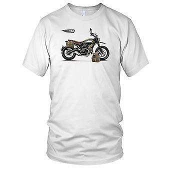 Ducati Scrambler armeijan tyyliin naisten T-paita