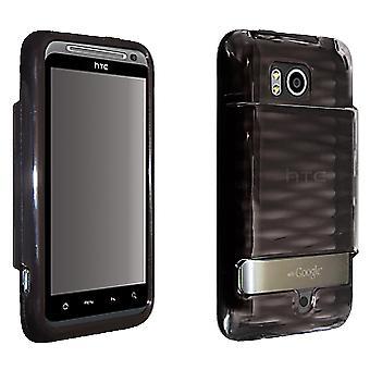 OEM Verizon HTC Thunderbolt ADR6400 hoogglans Silicone Cover voor uitgebreide Batte
