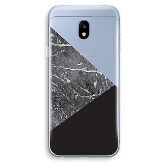 Samsung Galaxy J3 (2017) Transparent Case (Soft) - Marble combination