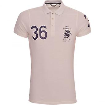 Crosshatch Mens Polo T Shirt Crosshatch Cotton Colllared Pique Polo Tee Top Short Sleeved