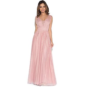 Little Mistress Rose Jewel Bust Maxi Dress