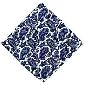 Eingewandt von London Paisley Stecktuch Seide - blau