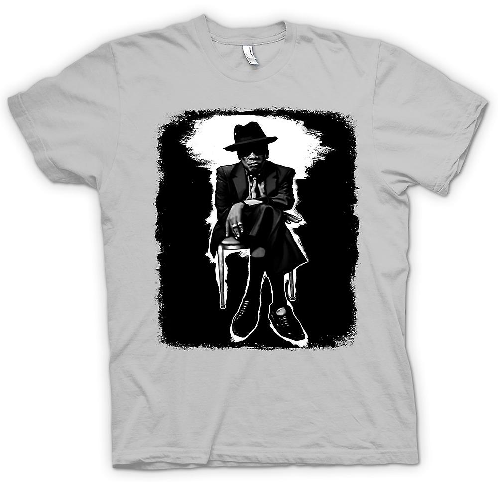 T-shirt homme - John Lee Hooker Blues - BW - Pop Art
