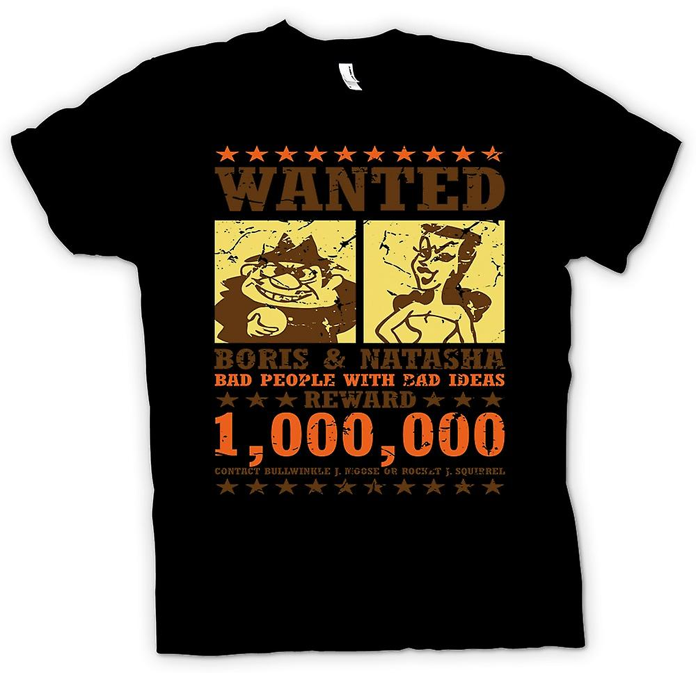 Womens T-shirt - Wanted - Boris & Natasha - Funny