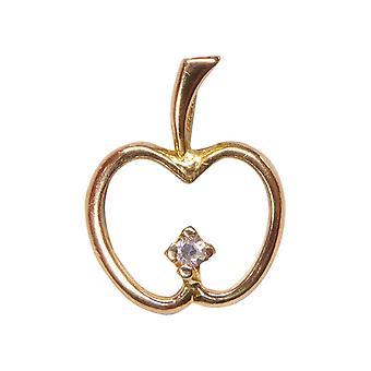 Golden Apple pendant with diamond