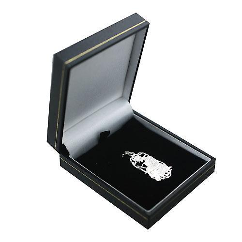 Silver 33x17mm Capricorn Zodiac Pendant