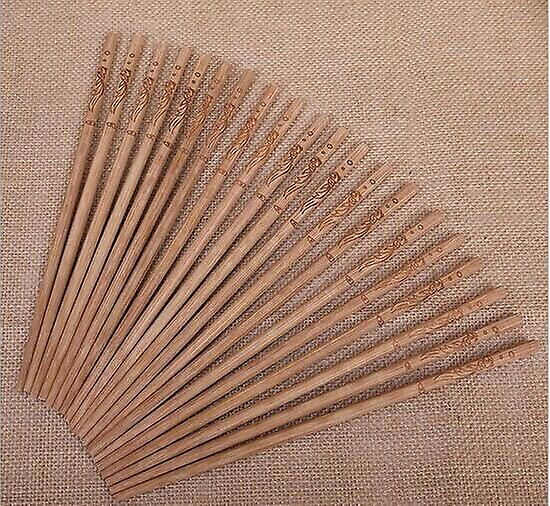 Kitchen Oriental Chop Sticks Re-usable Bamboo Pack of 10