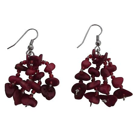 Handcrafted Custom Sterling Silver 92.5 Coral Nugget Earrings