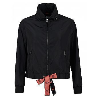 Emporio Armani Nylon logotipo Drawstring jaqueta