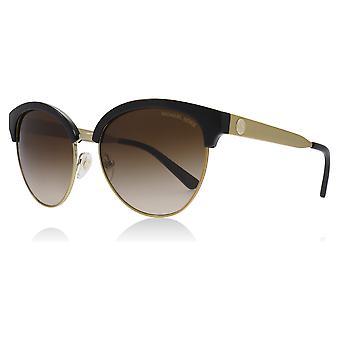 Michael Kors MK2057 330513 Schwarz / Gold Amalfi Katzen Augen Sonnenbrillen Objektiv Kategorie 3 Größe 56mm