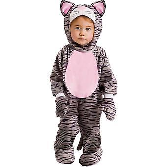 Graues Kätzchen Kleinkind Kostüm