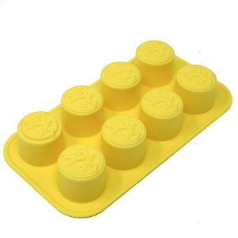 Juego de tronos-ice en forma de cubo Lannister logo amarillo, silicona, en embalaje de regalo.