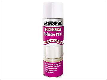 Ronseal One Coat Radiator Spray Satin White 400ml