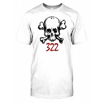Cranio e Crossbones 322 - Secret Society - cospirazione Mens T-Shirt