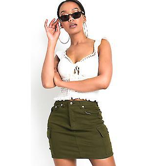 IKRUSH Womens Pippa Cargo Mini Skirt