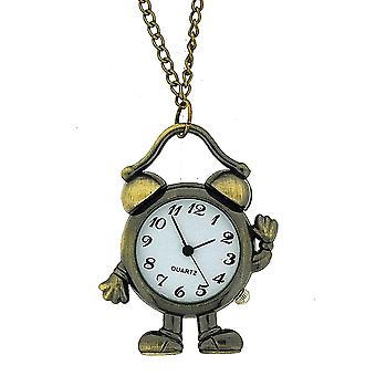 The Olivia Collection Ladies Aged Look Alarm Clock Pendant Watch On 30