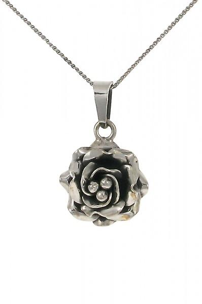 Cavendish French Small silver rose pendant without Chain