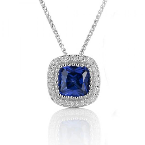 Cavendish French Sapphire Blue Beauty Pendant without Chain