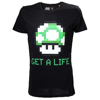 Men es Super Mario Bros. Get a Life T-Shirt