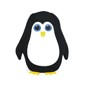 Cute Penguin Applique Knit Cover 750ml Hot Water Bottle